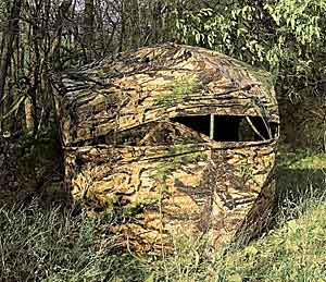 Typical ground blind for Deer and Turkey