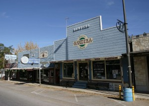 The main Drag with Arkey Blues saloon