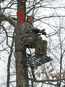 Noah in a Tree Stand