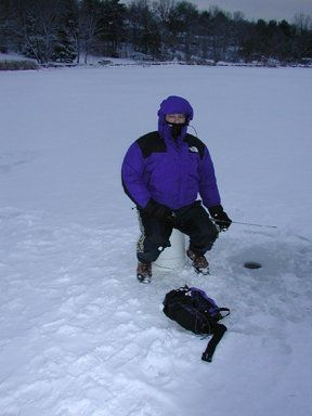 Noah Hochman&#039;s first Ice Fishing experience